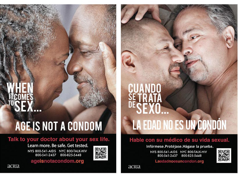 Two of the eight poster designs that were featured on 30 plus bus shelter locations around New York.
